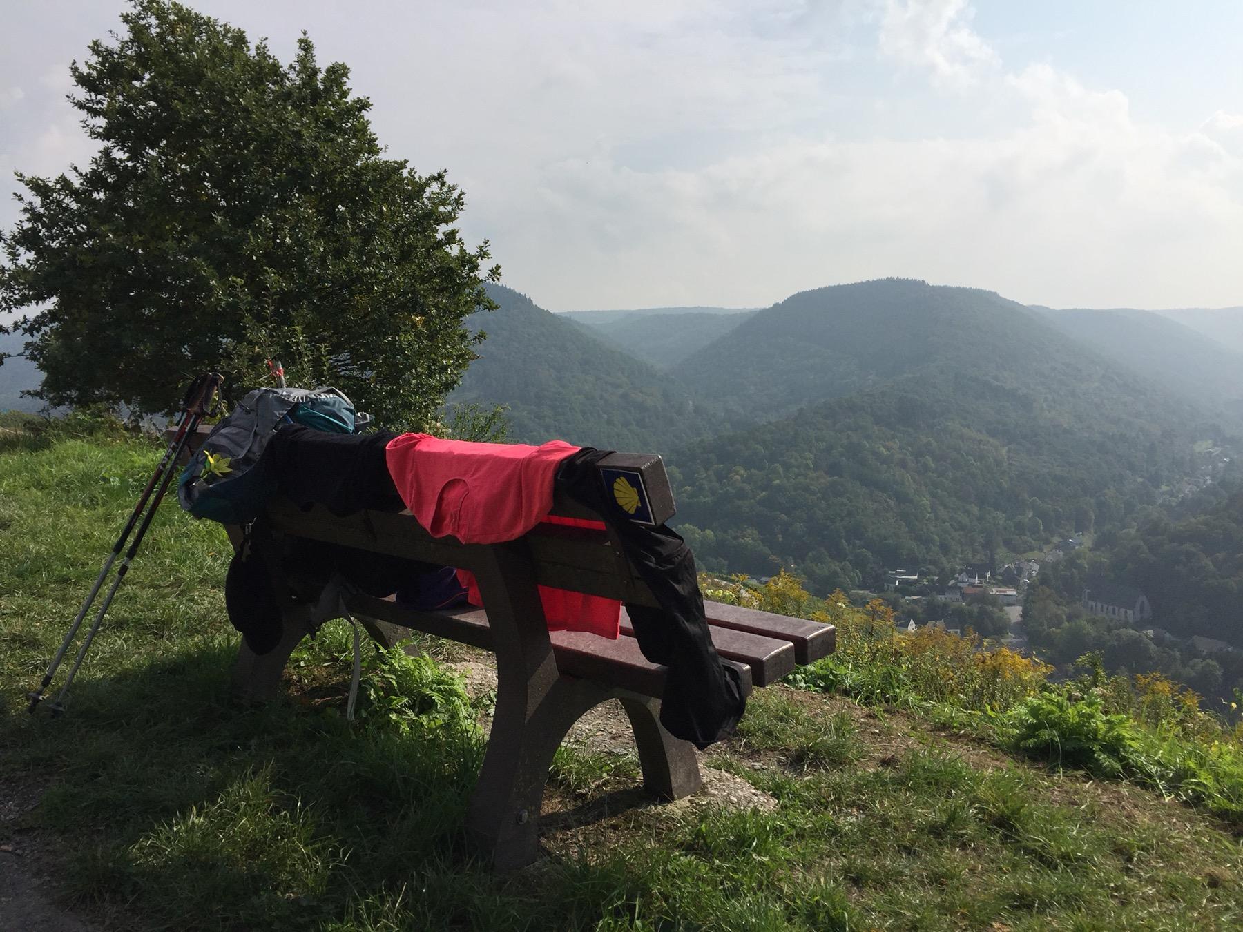 Wäschetrocknen am Mosel-Camino, Etappe 4 Marienburg - Traben-Trarbach