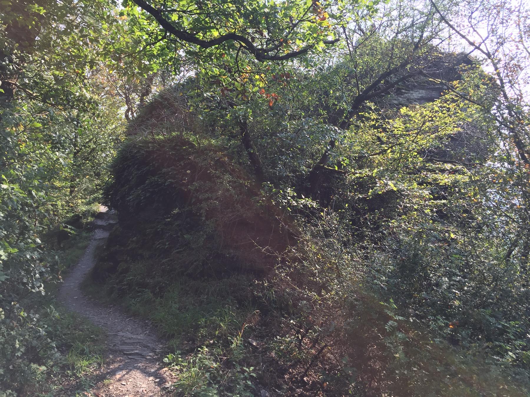 Imposanter Gesteinsbrocken hinter Enkirch