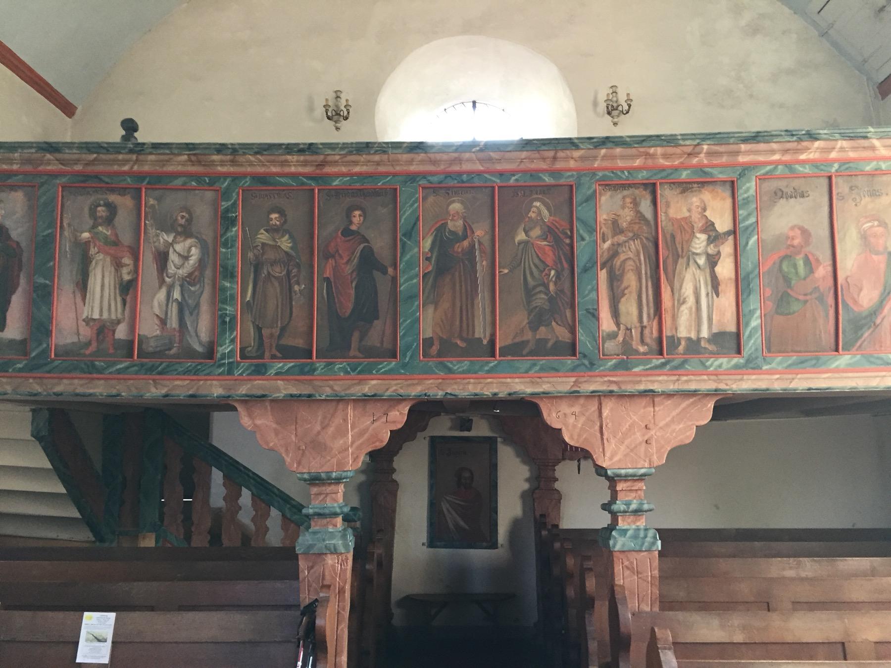 Empore der evangelischen Kirche in Starkenburg