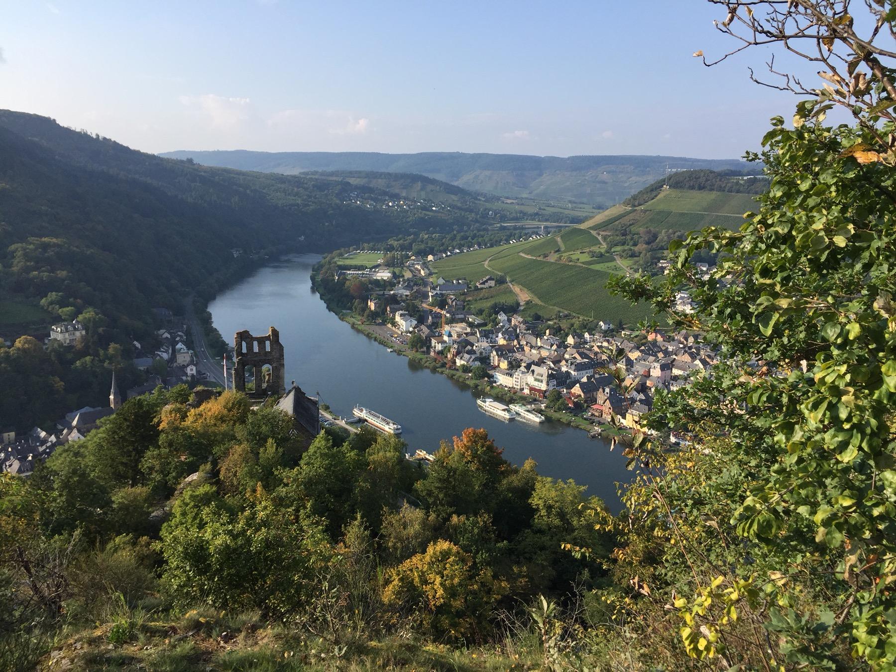 Burgruine über Traben-Trarbach. Mosel-Camino, Etappe 4