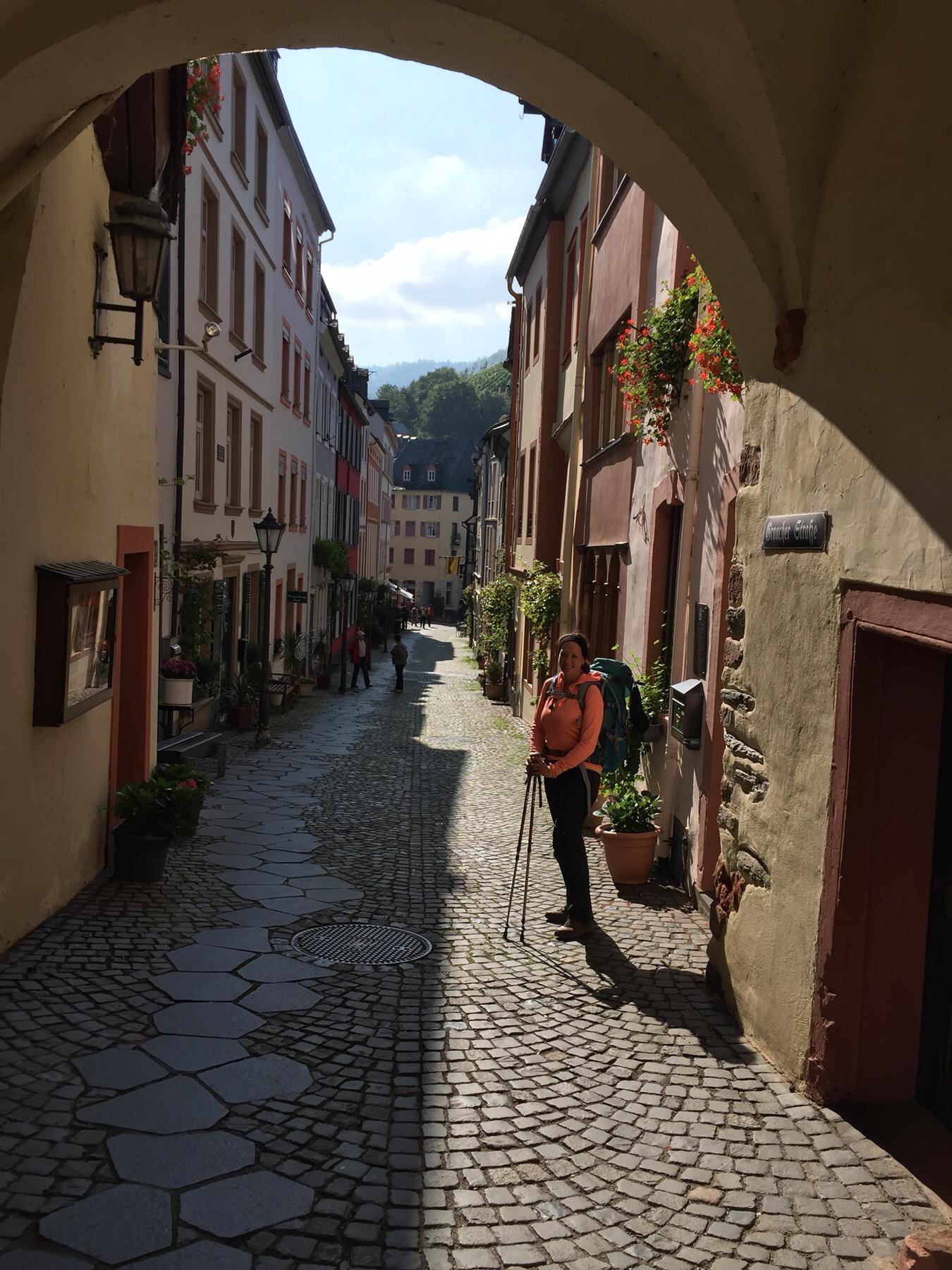 Eingang Bernkastel am Mosel-Camino auf dem Weg nach Klausen