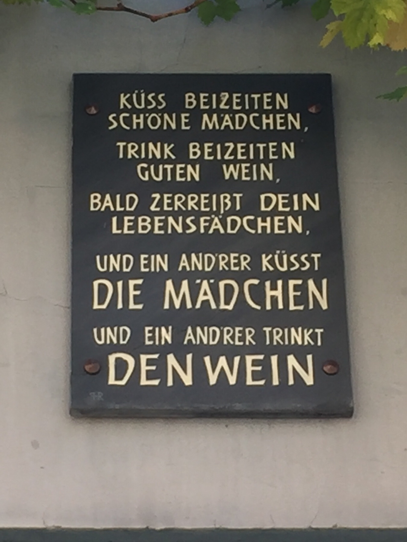 Mosel Camino Schild in Bernkastel
