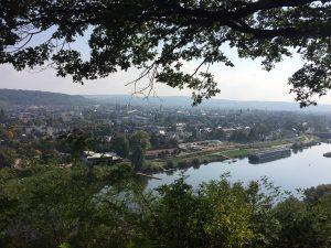 Blick auf Trier vom Moselcamino
