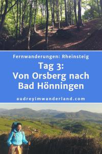 Rheinsteig - Tag 3: Von Orsberg nach Bad Hönningen. #rheinsteig #deutschland #wanderung #fernwanderung #wandern #fernwandern #rucksack #wanderblog #wanderblogger #outdoorblog #rheinlandpfalz #wald #rhein #läuftbeiihr