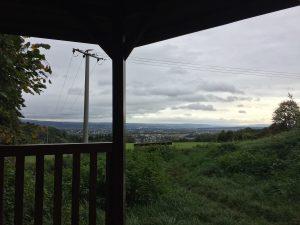 Ausblick von einer der vielen Schutzhütten am Rheinsteig