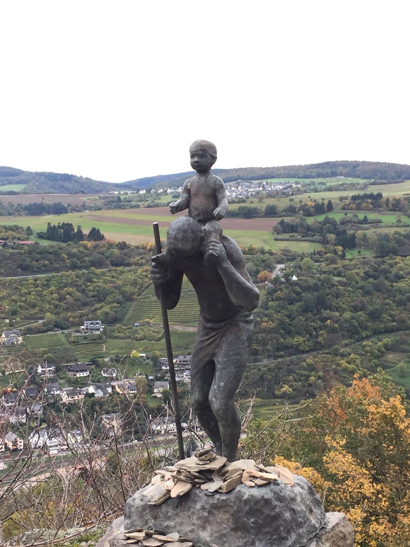 Christopherus-Statue auf den Rosssteinen