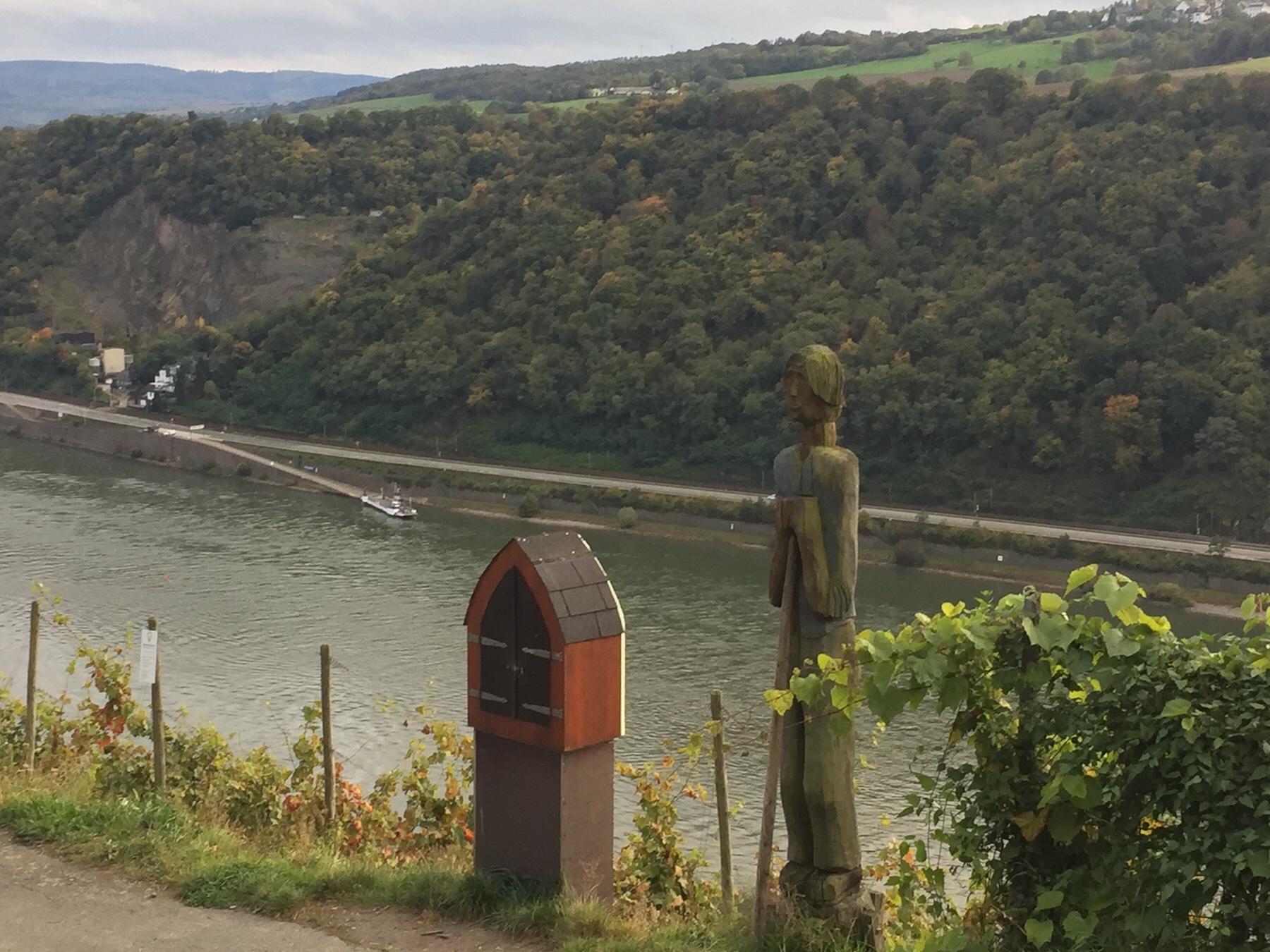 Weintresor bei Kaub am Rheinsteig