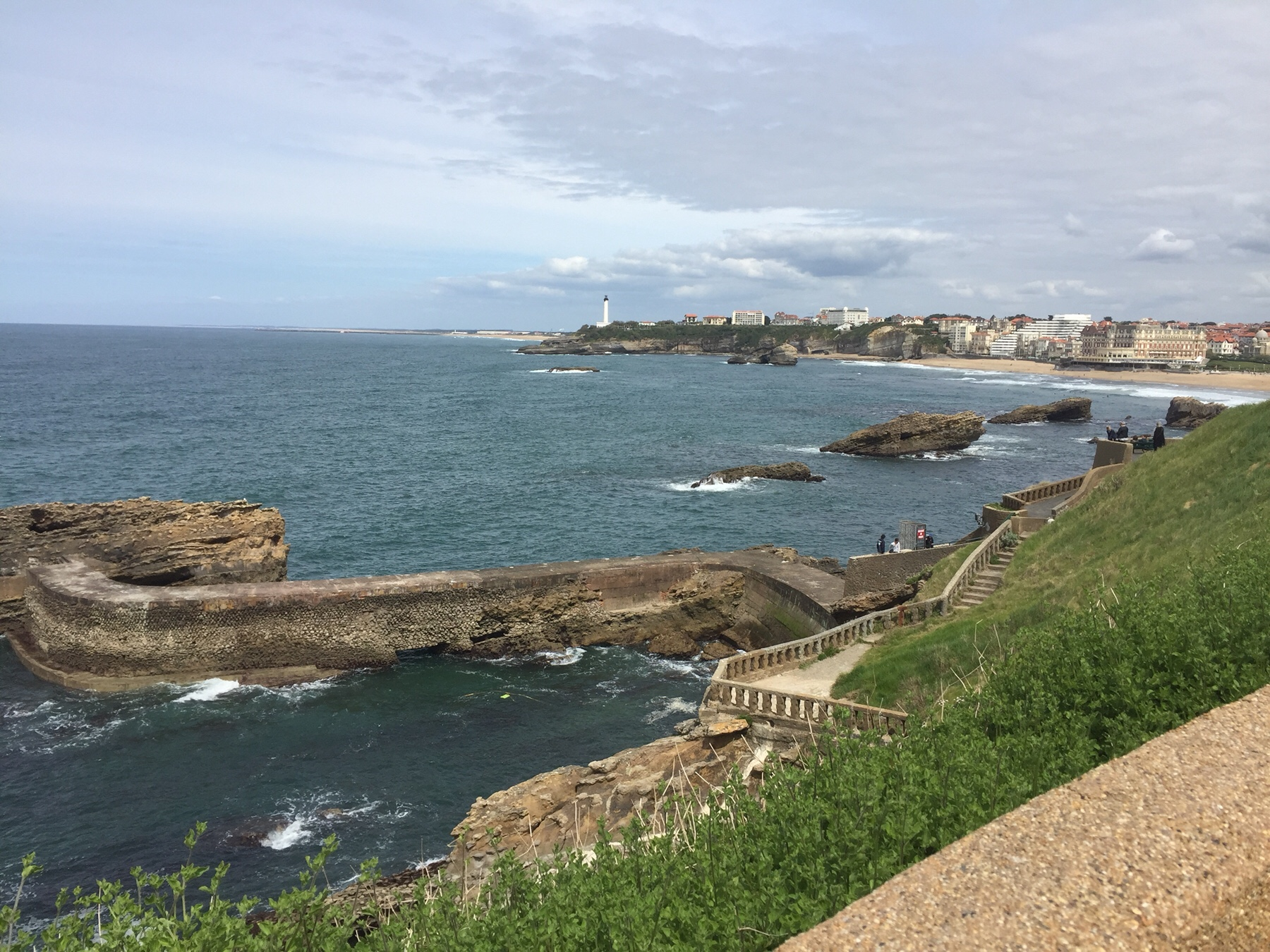 Blick auf Biarritz
