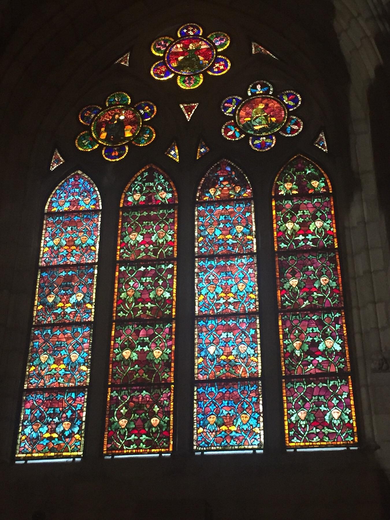 Fenster der Kathedrale von Leon, Camino Frances