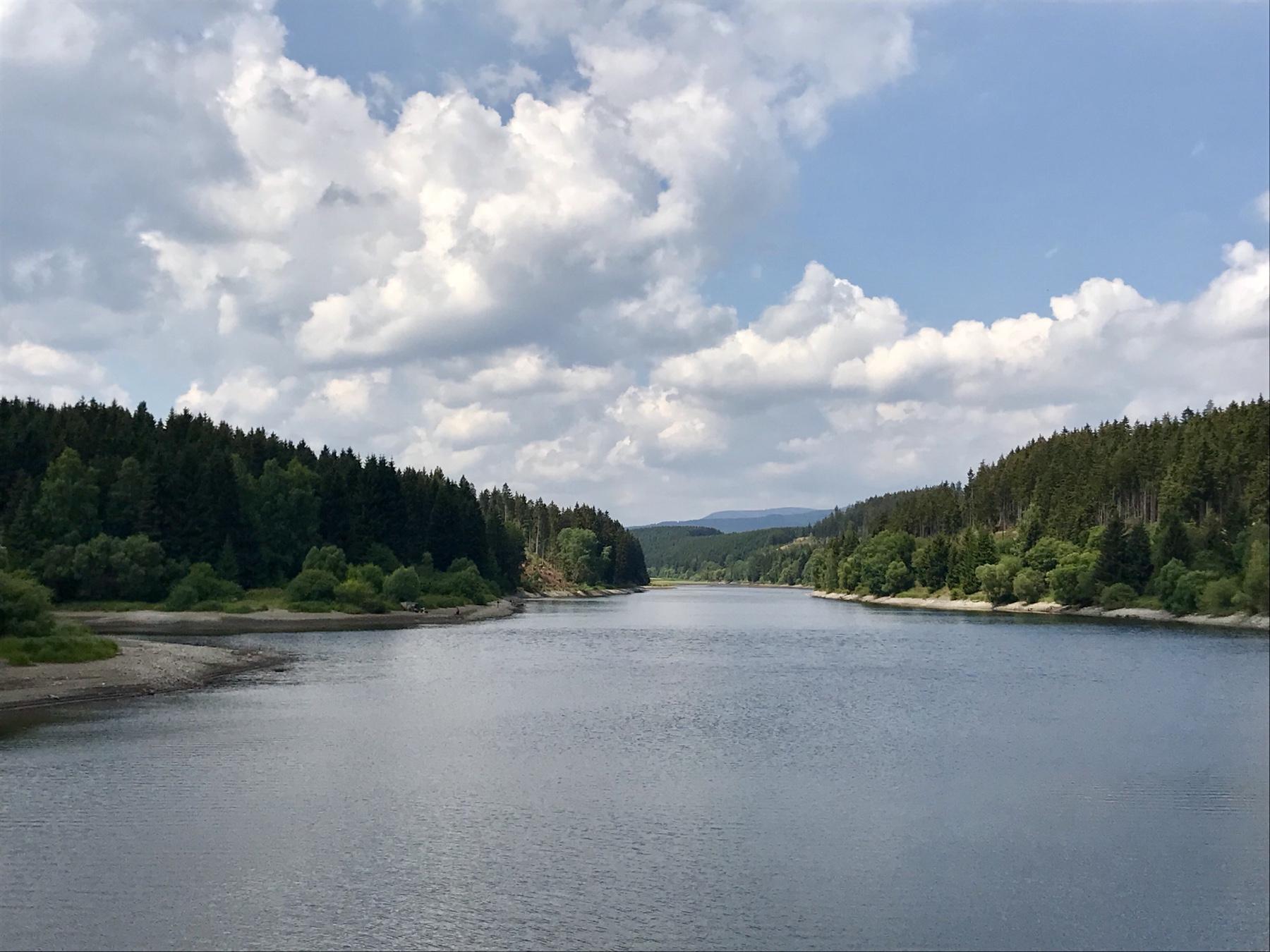 Blick von der Trogfurther Brücke im Harz am Hexenstieg