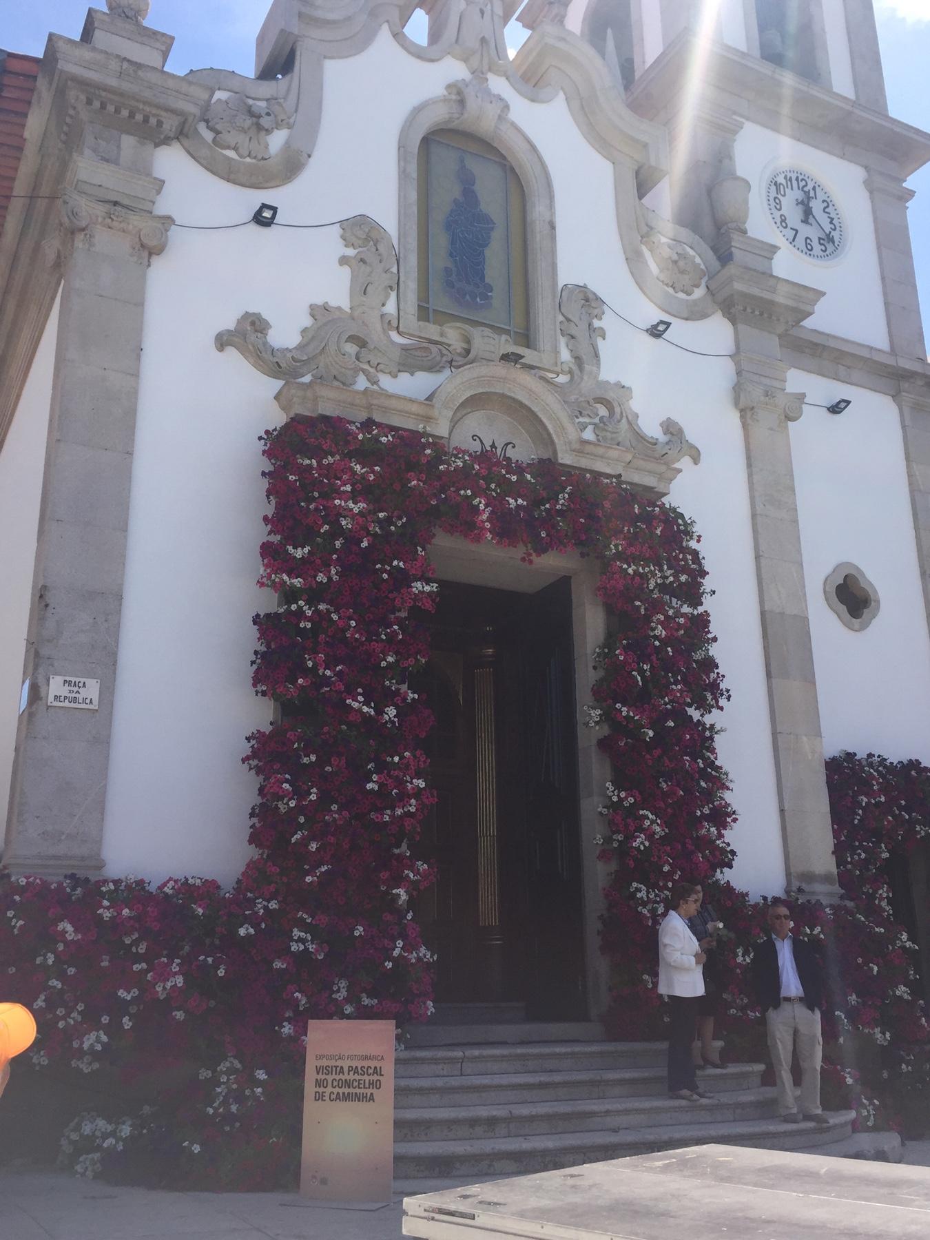 Kirche von Via Praia Âncora am portugiesischen Jakobsweg