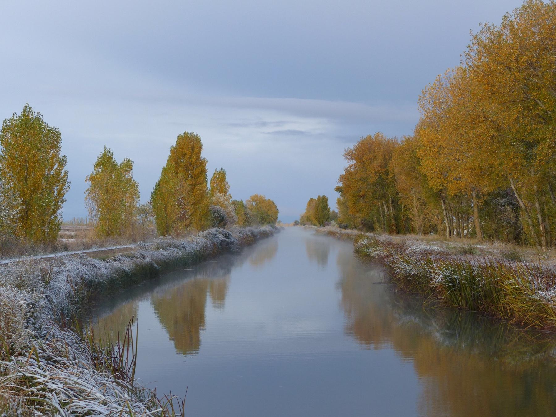 Am Canal de Castilla vor Fromista, Camino Frances
