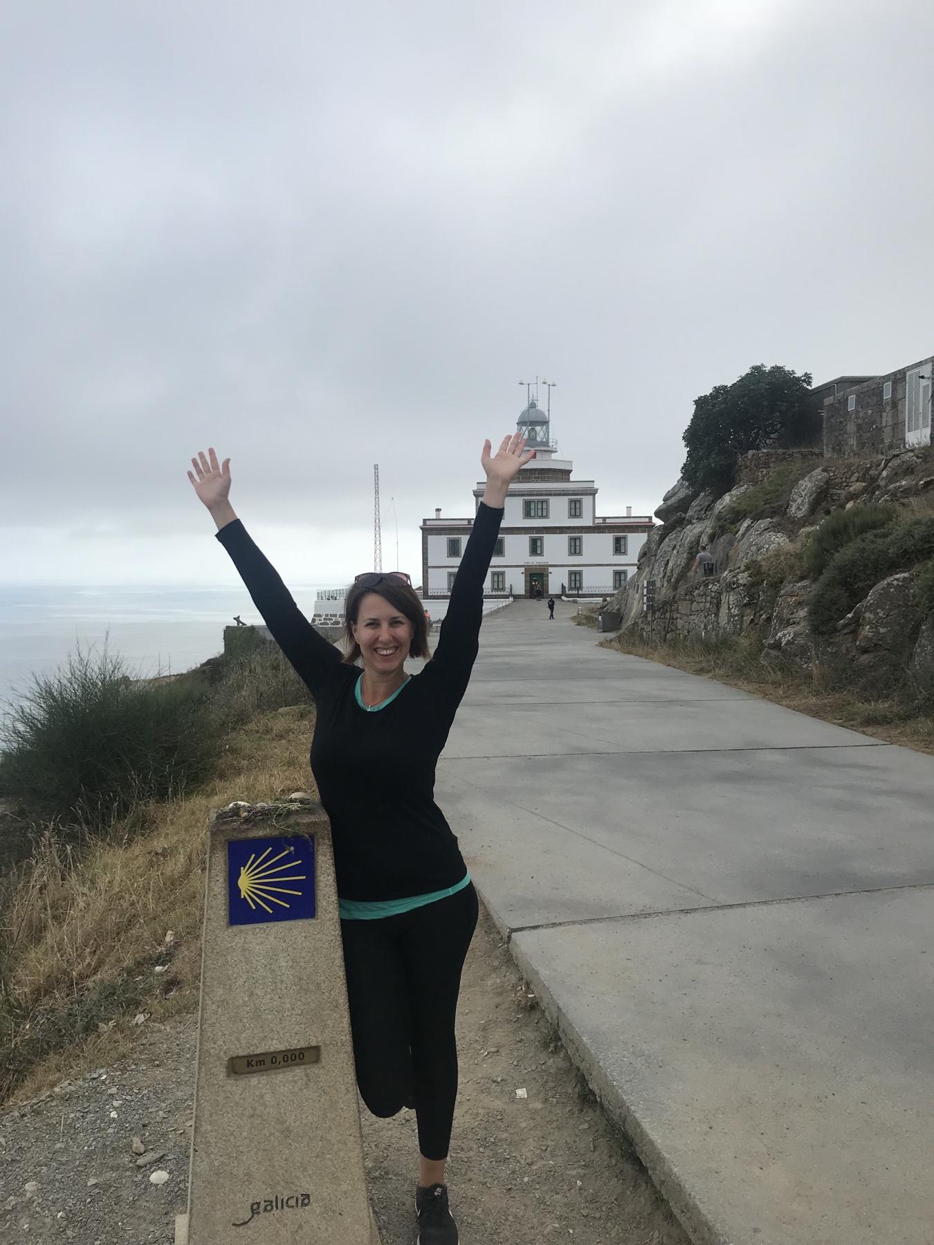 Katalin am Ende der Welt in Finisterre