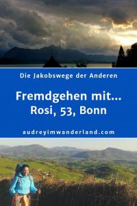 """In der 8. Ausgabe von """"Fremdgehen mit..."""" erzählt Rosi, 53, aus Bonn von ihrem Camino del Norte und der Via Jacobi, inspirierenden Trampern, endlosen Schaumbädern und vom richtig falschen Pilgern deutscher Senf-Spender #Caminodelnorte #Moselcamino #Viajacobi #ViaColoniensis #Erfahrungsbericht #Blogprojekt #Jakobsweg #läuftbeiihr"""""""