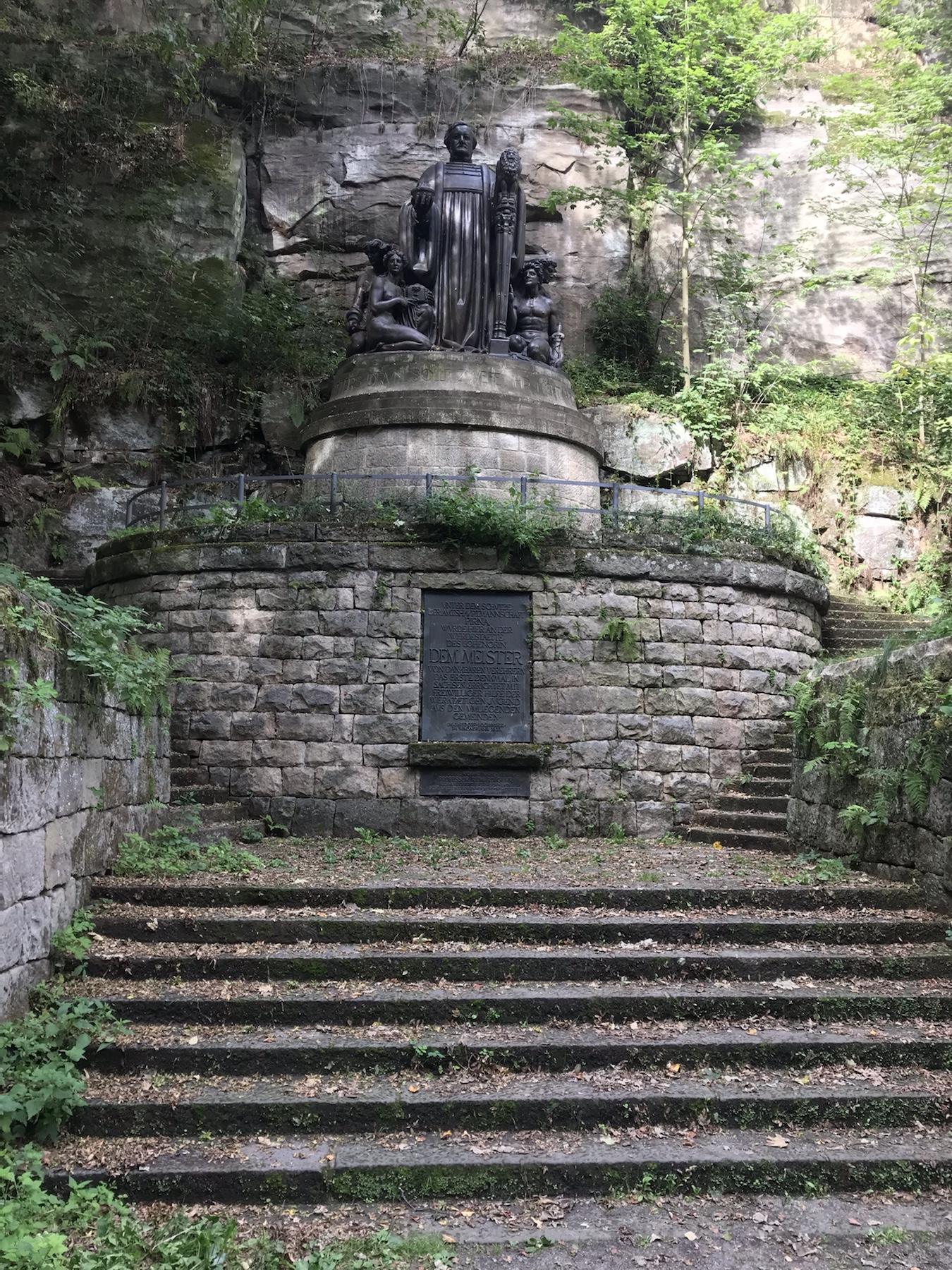 Richard Wagner Denkmal Liebethaler Grund Malerweg auf dem Weg nach Wehlen