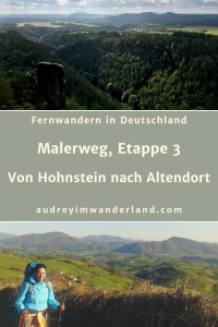 Etappe 3 auf dem Malerweg von Hohnstein nach Altendorf mit riesigen Grotten, krachenden Panorama und über 1.500 Stufen zu meinem Haufen Regenkleidung. #malerweg #saechsischeschweiz #deutschland #sachsen #wanderung #fernwanderung #wandern #fernwandern #rucksack #wanderblog #wanderblogger #brandaussicht #tiefengrund#läuftbeiihr