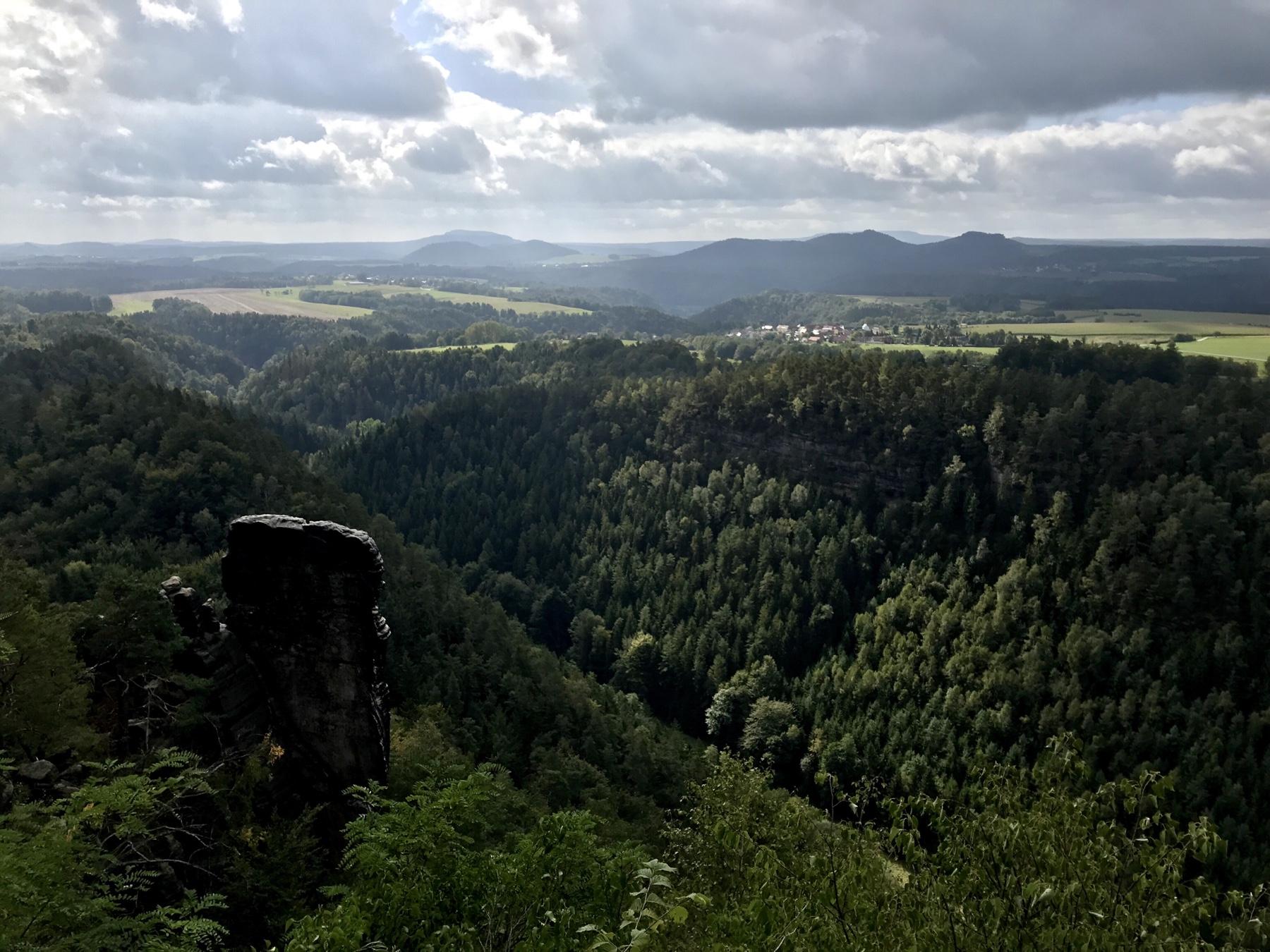 Blick von der Brandaussicht, Malerweg Etappe 3 Hohnstein Altendorf