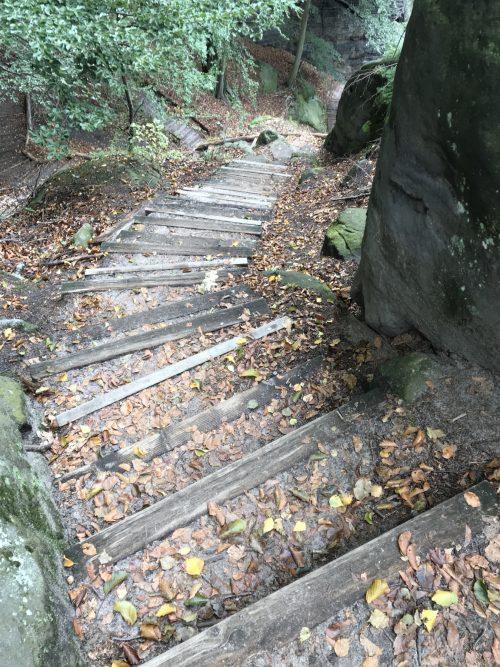 Abstieg in den Tiefen Grund, Malerweg Etappe 3, Hohnstein Altendorf