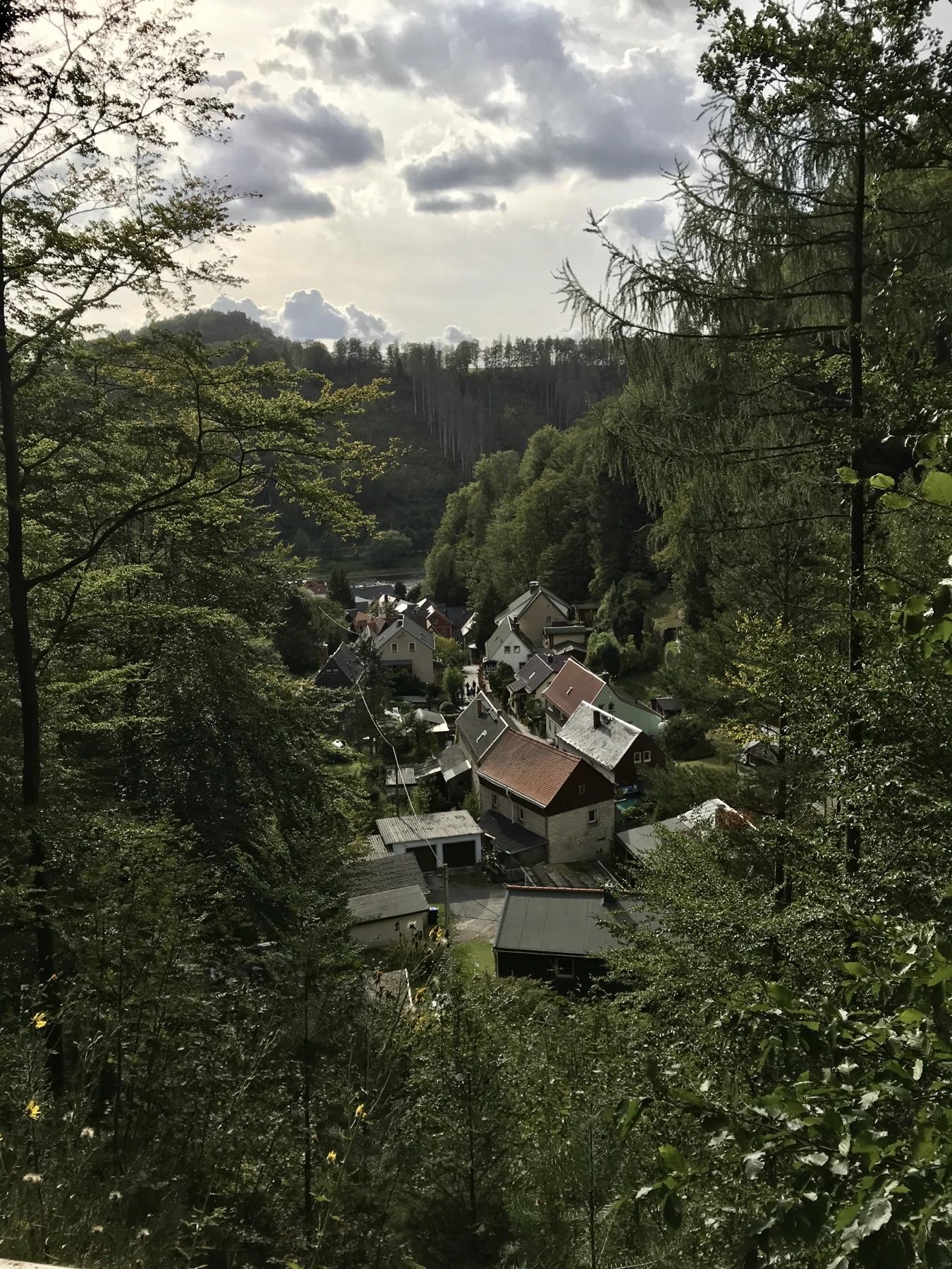 Am Ziel Malerweg Etappe 5 Neumannmühle Schmilka