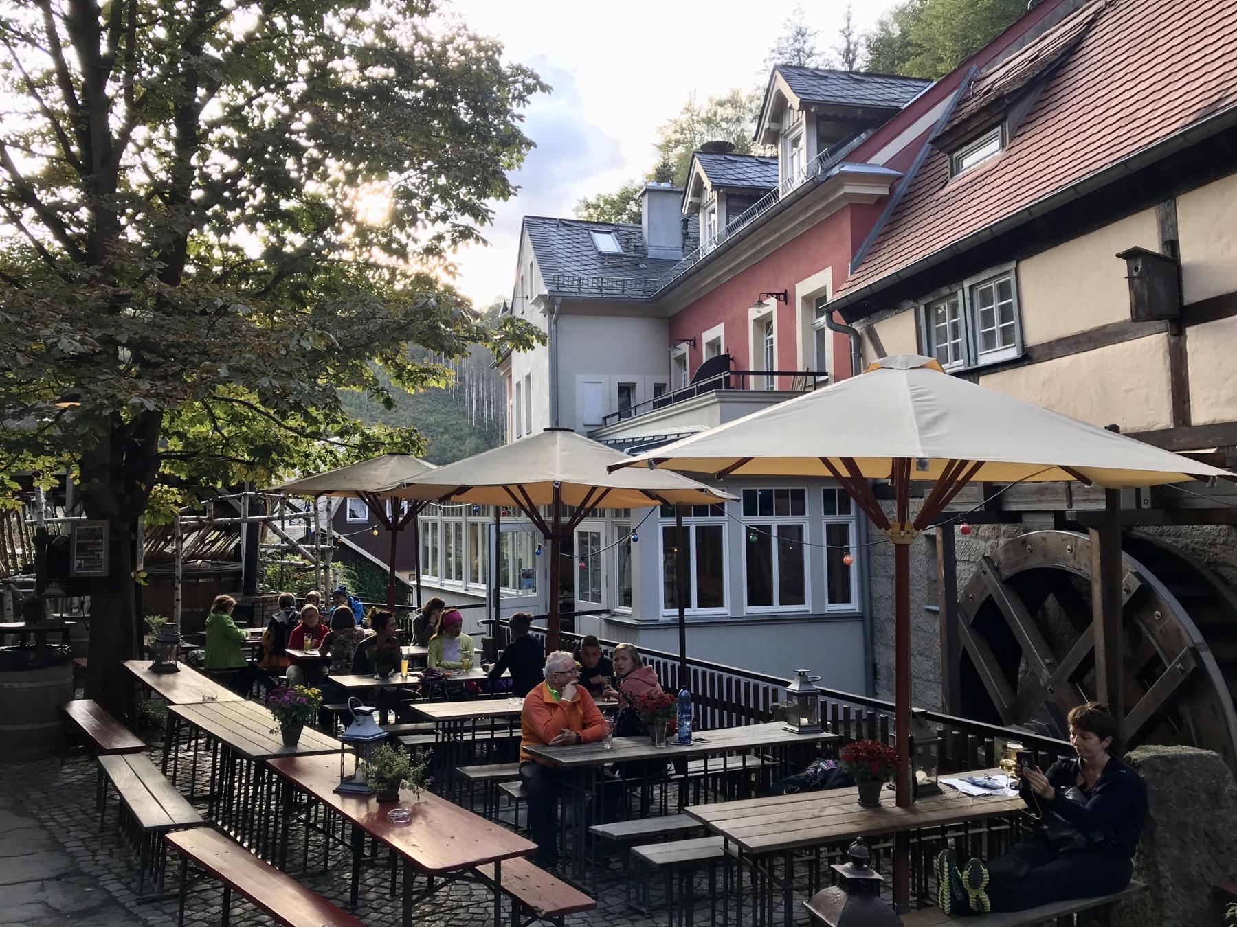 Biergarten Schmilk'sche Mühle Mahlerweg Etappe 5