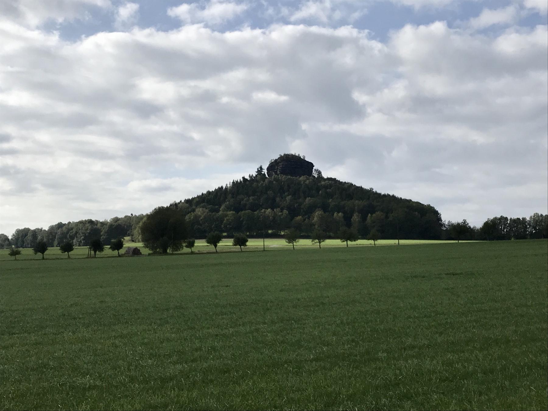 Blick auf den Zirkelstein, Malerweg Etappe 6, von Schmilka nach Gohrisch