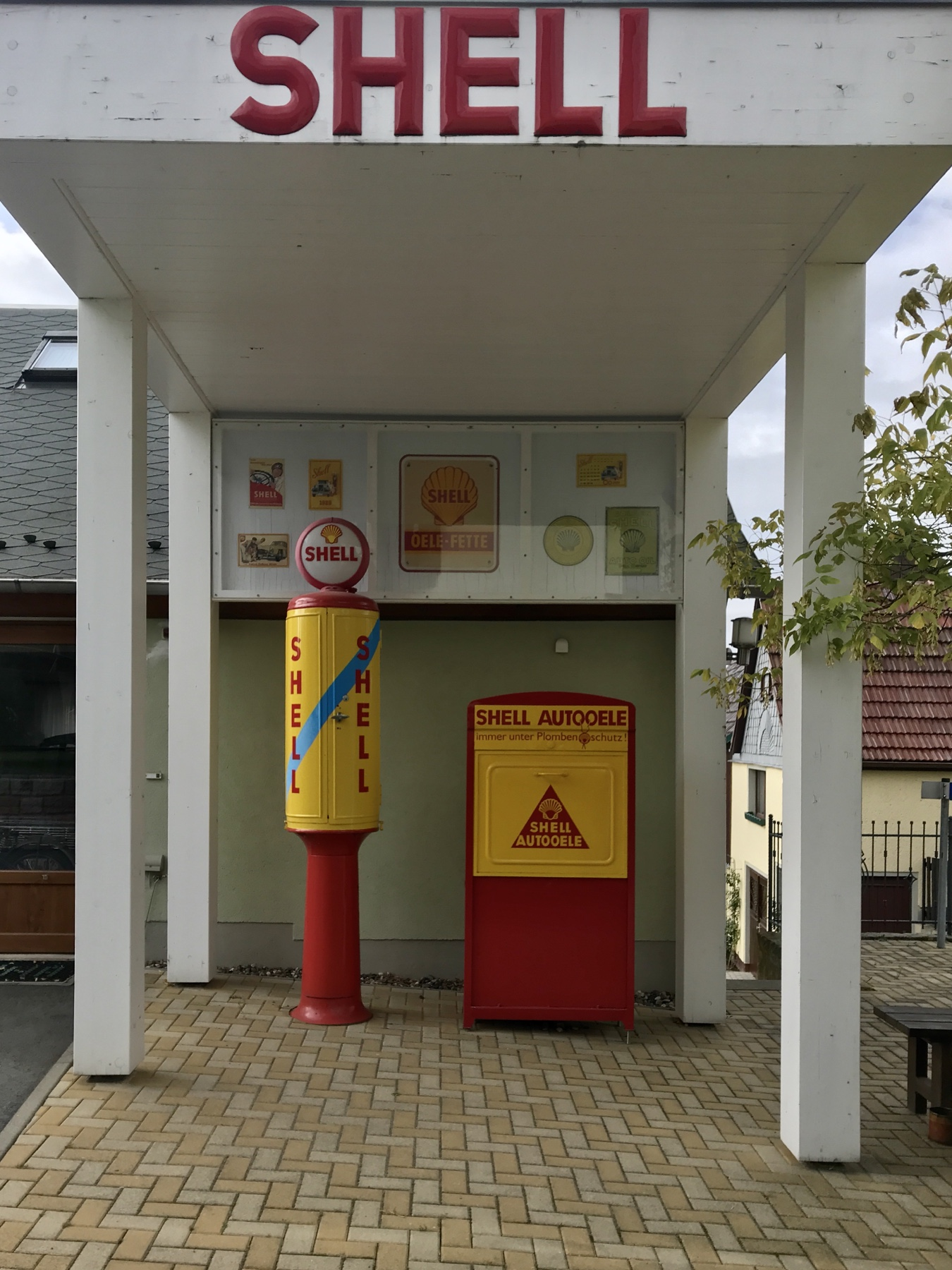 Oldtimer Tankstelle Schöna, Malerweg Etappe 6, von Schmilka nach Gohrisch