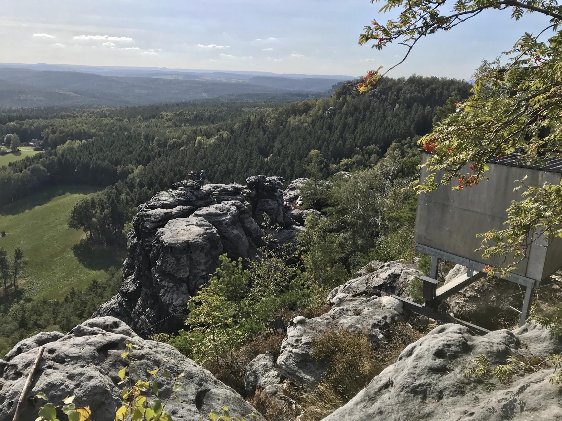 Blick vom Papststein auf den Gohrisch, Malerweg Etappe 6