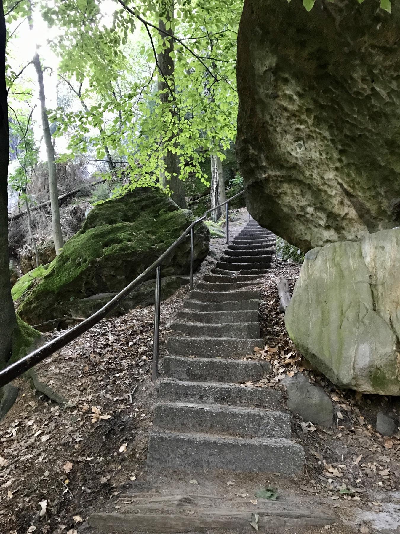 Aufstieg Pfaffenstein, Malerweg Etappe 7, Gohrisch Königstein
