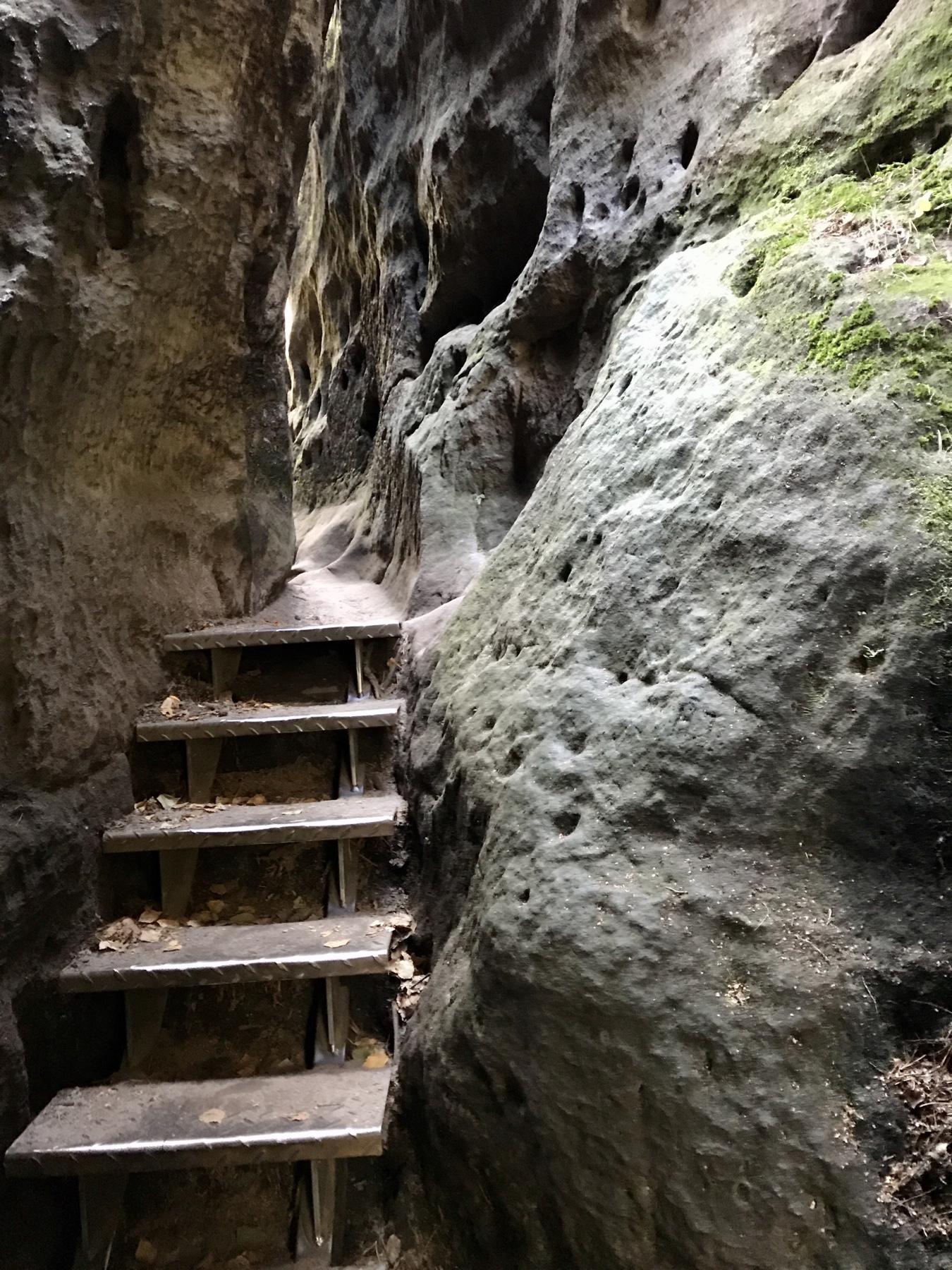 Auf dem Weg zur Barbarine, Pfaffenstein, Elbsandsteingebirge