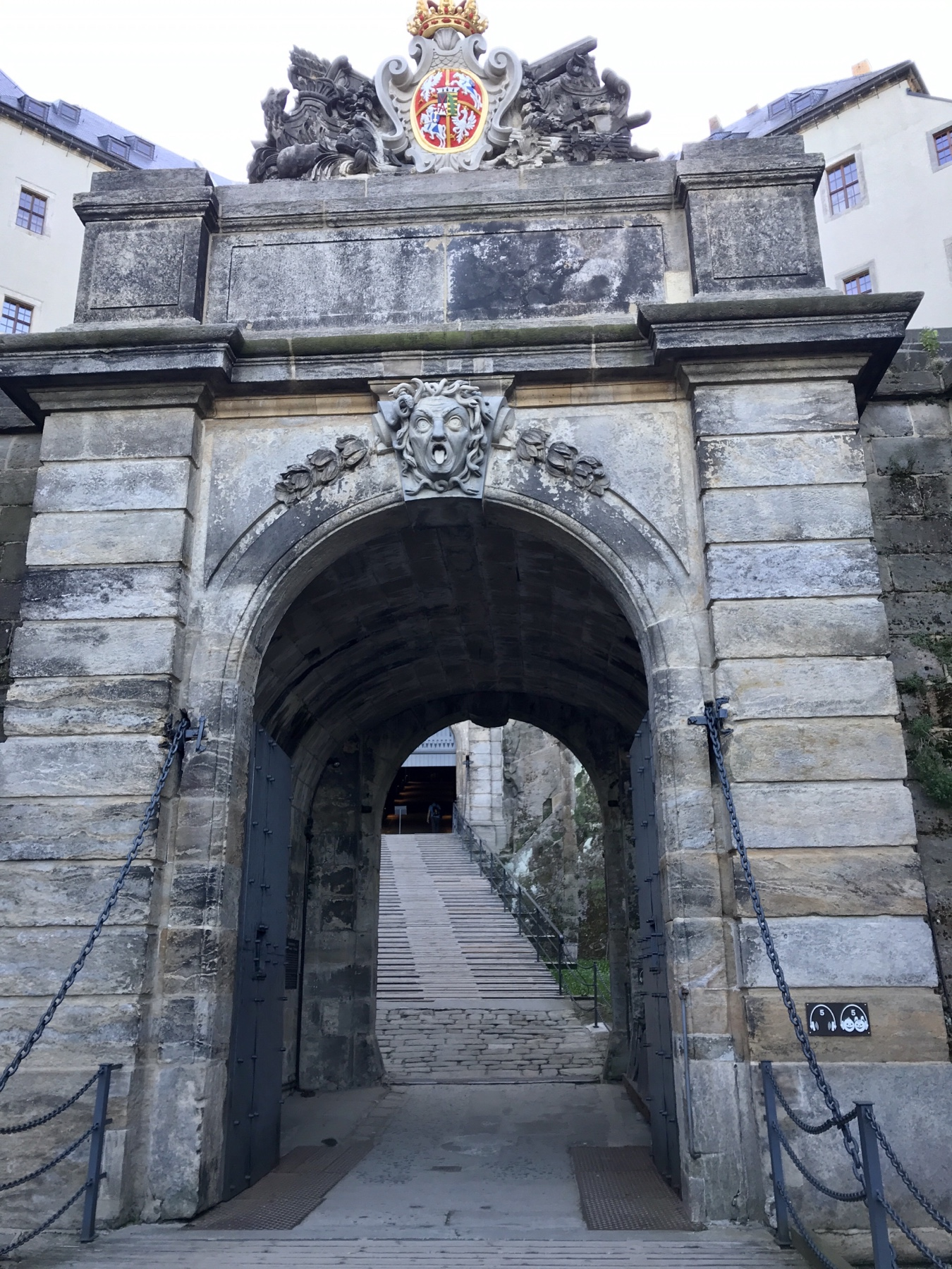 Medusentor, Festung Königstein, Malerweg