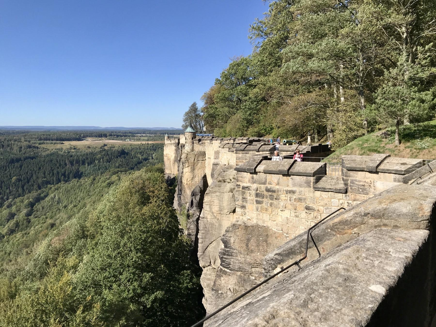 Wallanlage, Festung Königstein