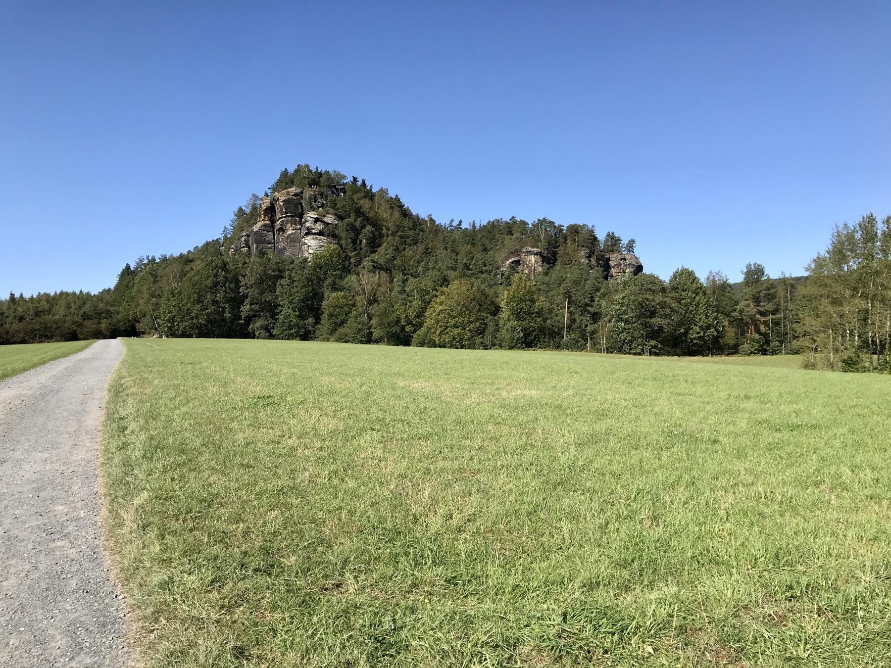 Blick auf den Rauenstein, Malerweg Etappe 8