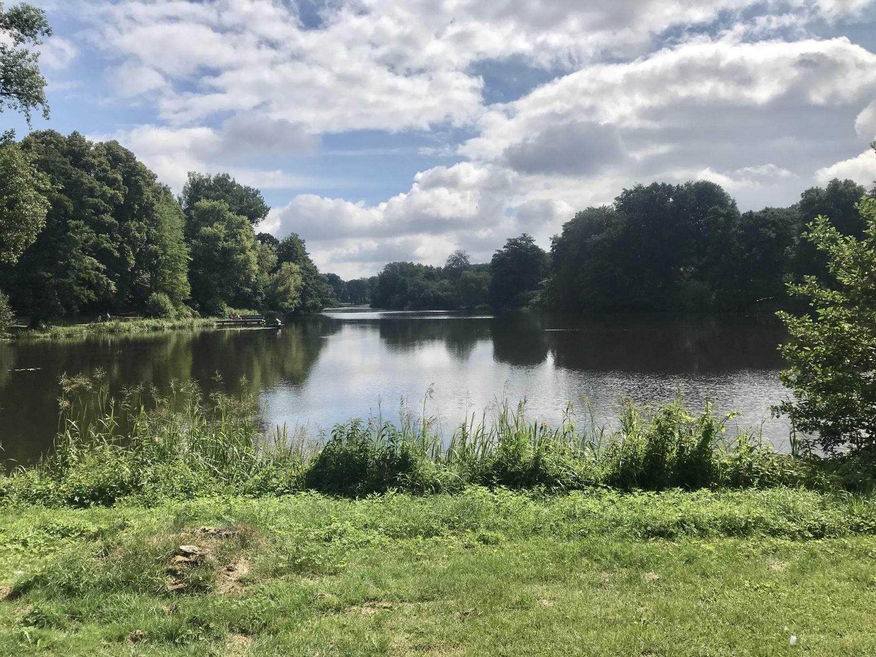 Reinbeker Mühlenteich am Schloss, Stormarnweg Etappe 1 Reinbek Großensee