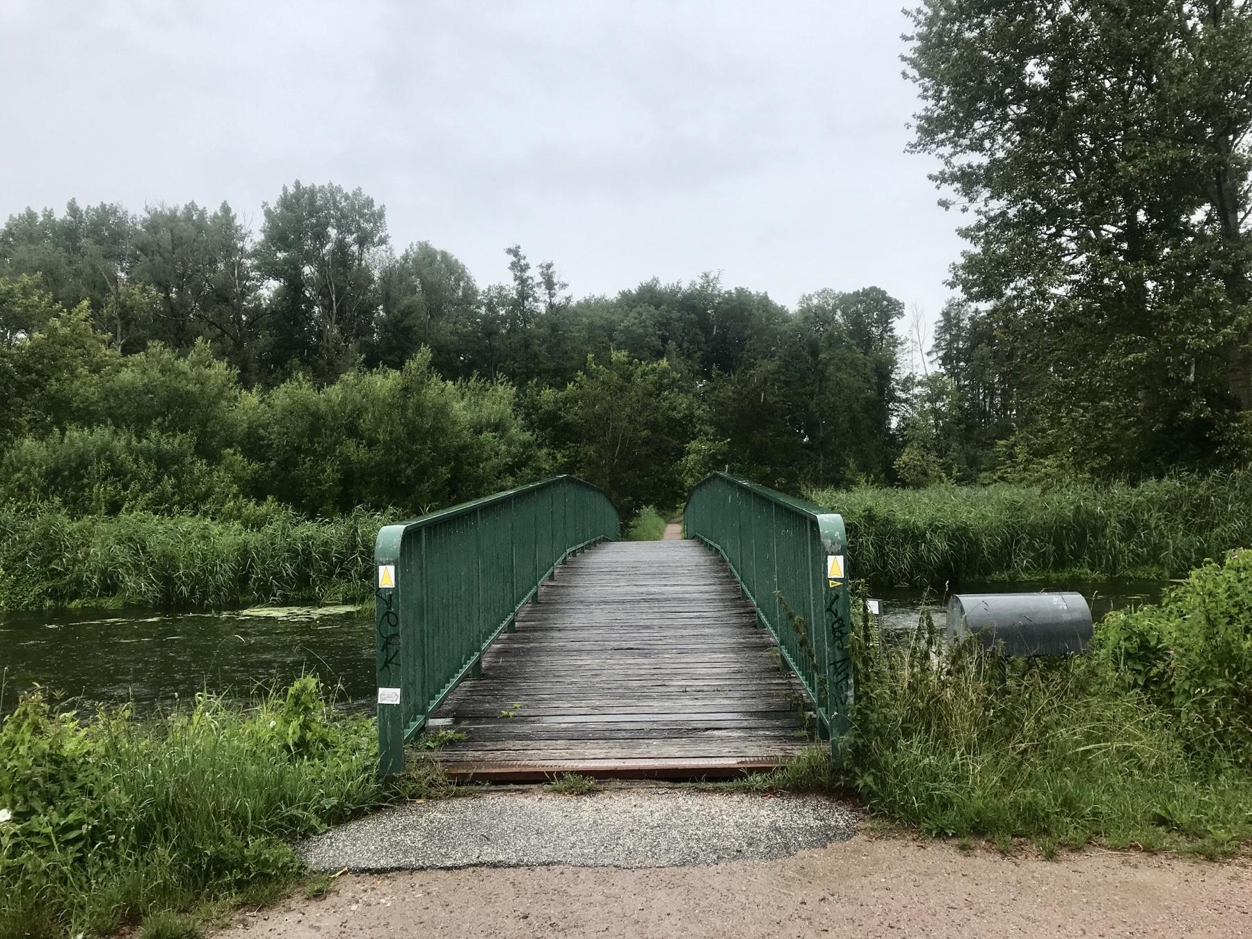 Brücke über die Trave nach Altfresenburg, Stormarnweg Etappe 5 nach Reinfeld