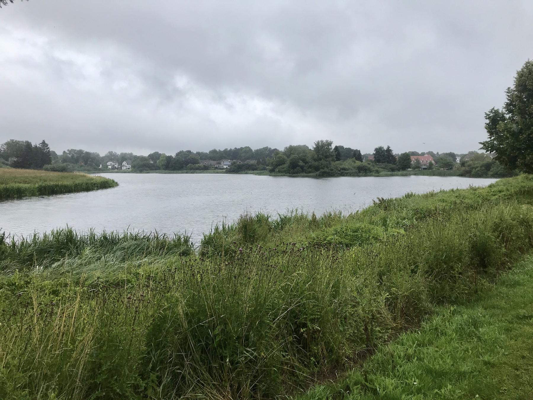 Der Messingschläger Teich bei Dröhnhorst vor Reinfeld, Stormarnweg