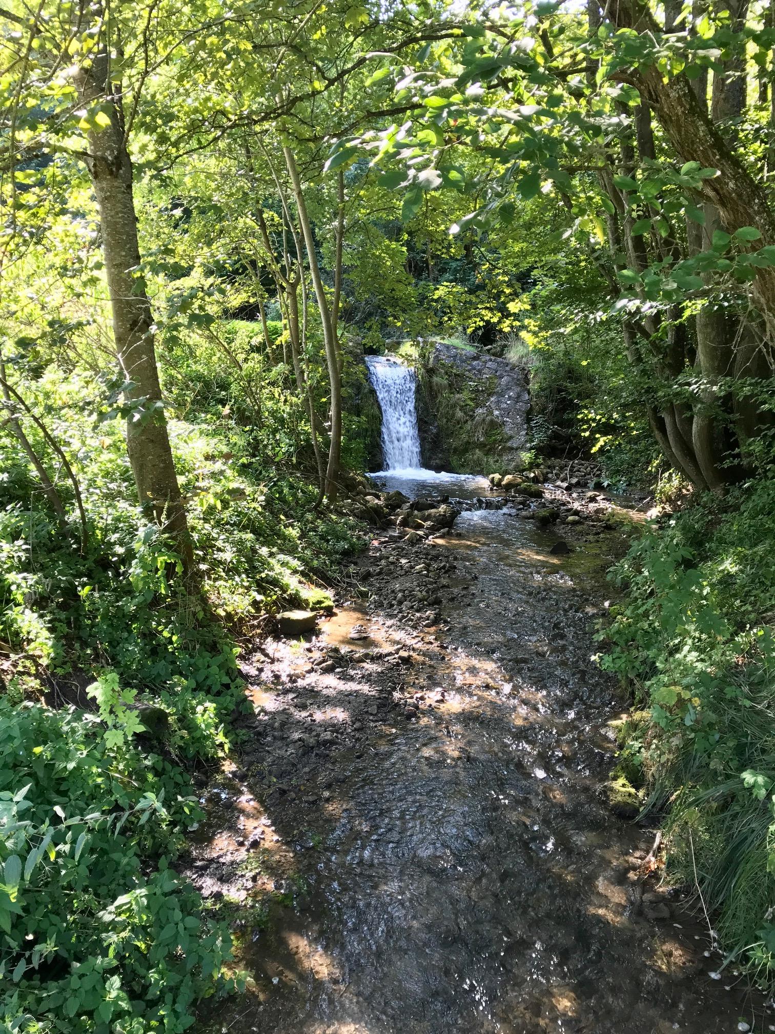 Wasserfall an der Hoppelmühle, Albsteig Etappe 2 nach Bopfingen