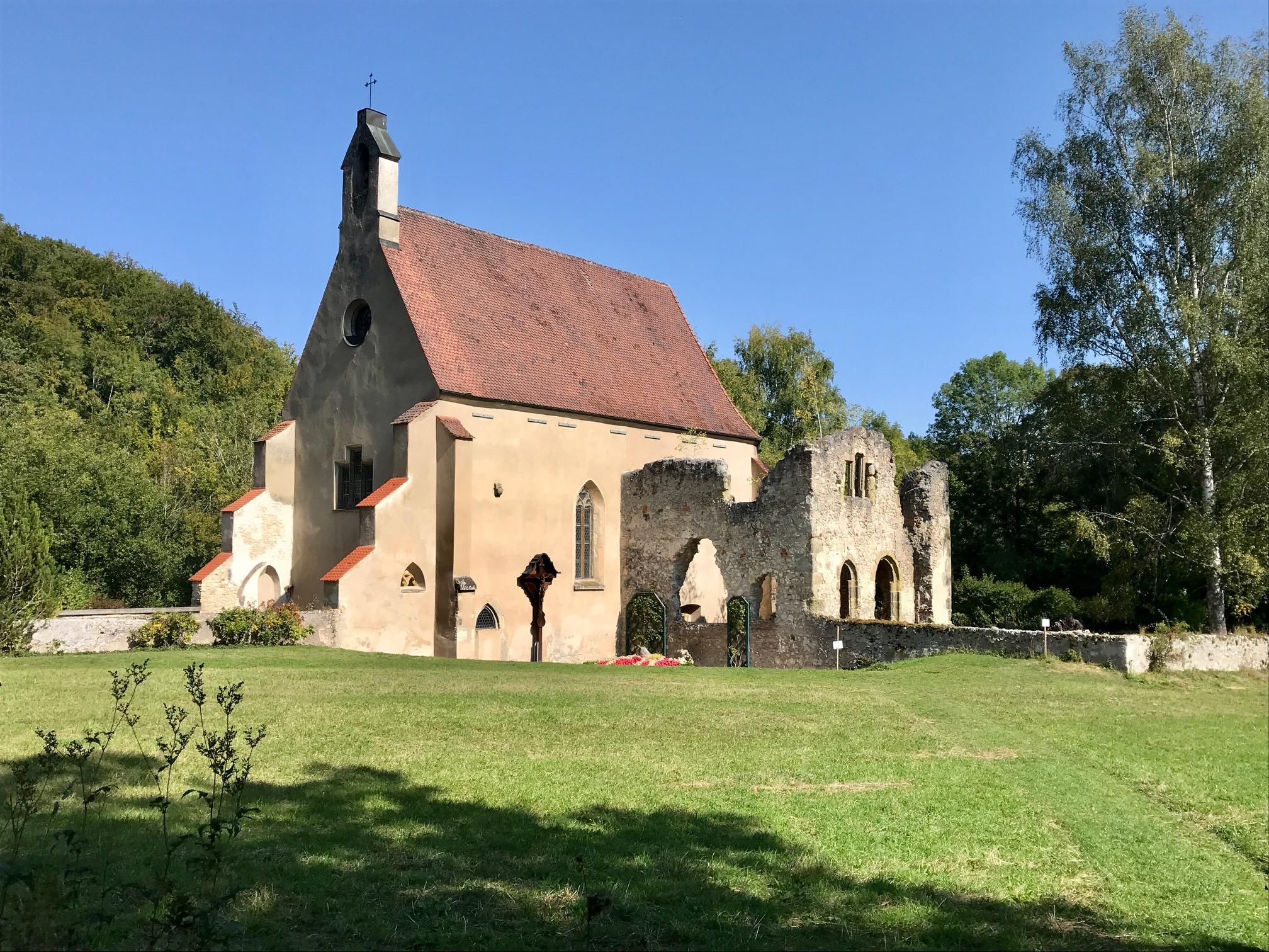 Klosterruine Christgarten, Albsteig HW1, Etappe 2 Mönchsdeggingen - Bopfingen